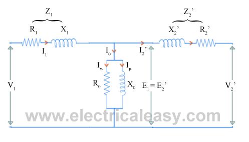 equivalent circuit of transformer electricaleasy com rh electricaleasy com