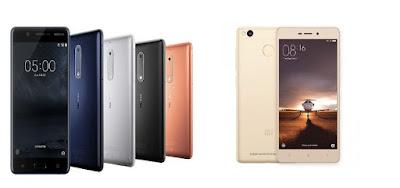 Nokia 5 Xiaomi Redmi 3s Prime