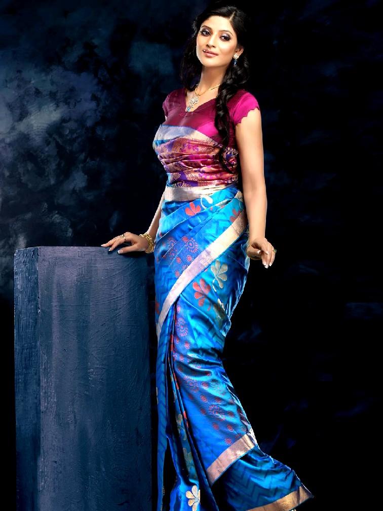 Kalyan Silks Sarees  Party Wear Saree Collection 2013  Spring Summer Saree Designs 2013 For