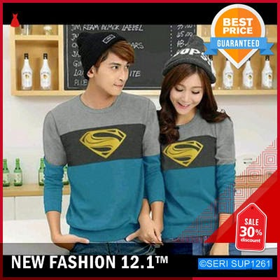 SUP1261030 008 Cp Swaeter Superman Baju Couple BMGShop