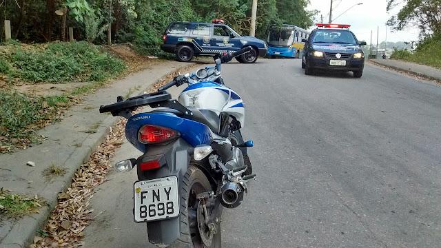 ROMU de Santo André localiza moto produto de roubo abandonada no Clube de Campo