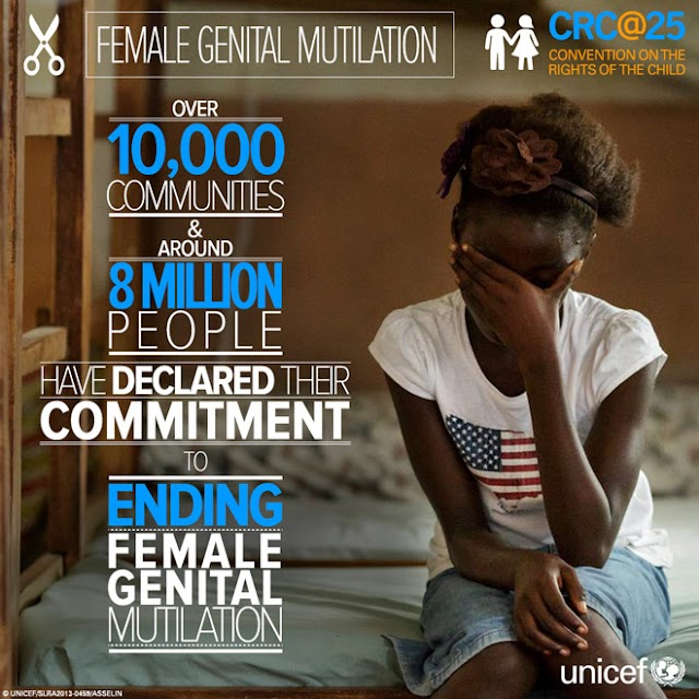 Human Rights : Female genital mutilation/cutting has declined sharply in most of Africa countries !