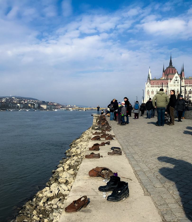 Shoes on the Danube Promenade Memorial in Budapest