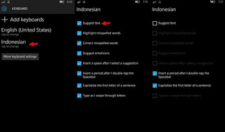 Cara Menonaktifkan Text Suggestion di Windows 10 Mobile