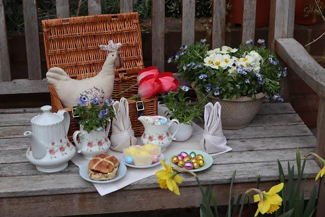 Cute Easter Tea Party DIY Decor flowers plants