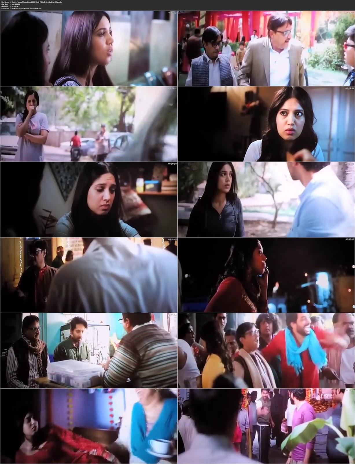 Shubh Mangal Saavdhan 2017 Bollywood 300MB PDVDRip 480p at movies500.site