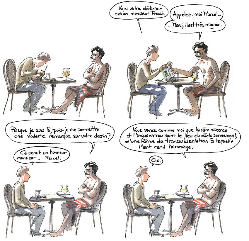 Proust au café de la Gare de Bois le roi