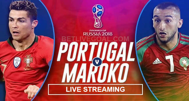 live streaming portugal vs maroko 20 juni 2018