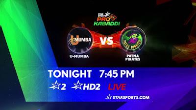 Mumba Vs Patna Pirates Live Streaming