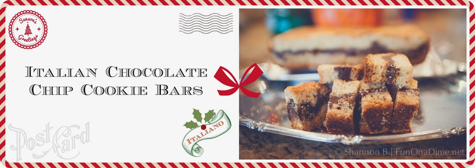Italian Chocolate Chip Cookie Bar Recipe