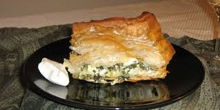 Image showing Bosnian pita made of filo pastry and spinach
