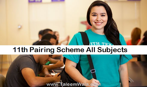 1st Year English Pairing Scheme 2019 - 11th Class Assessment Download