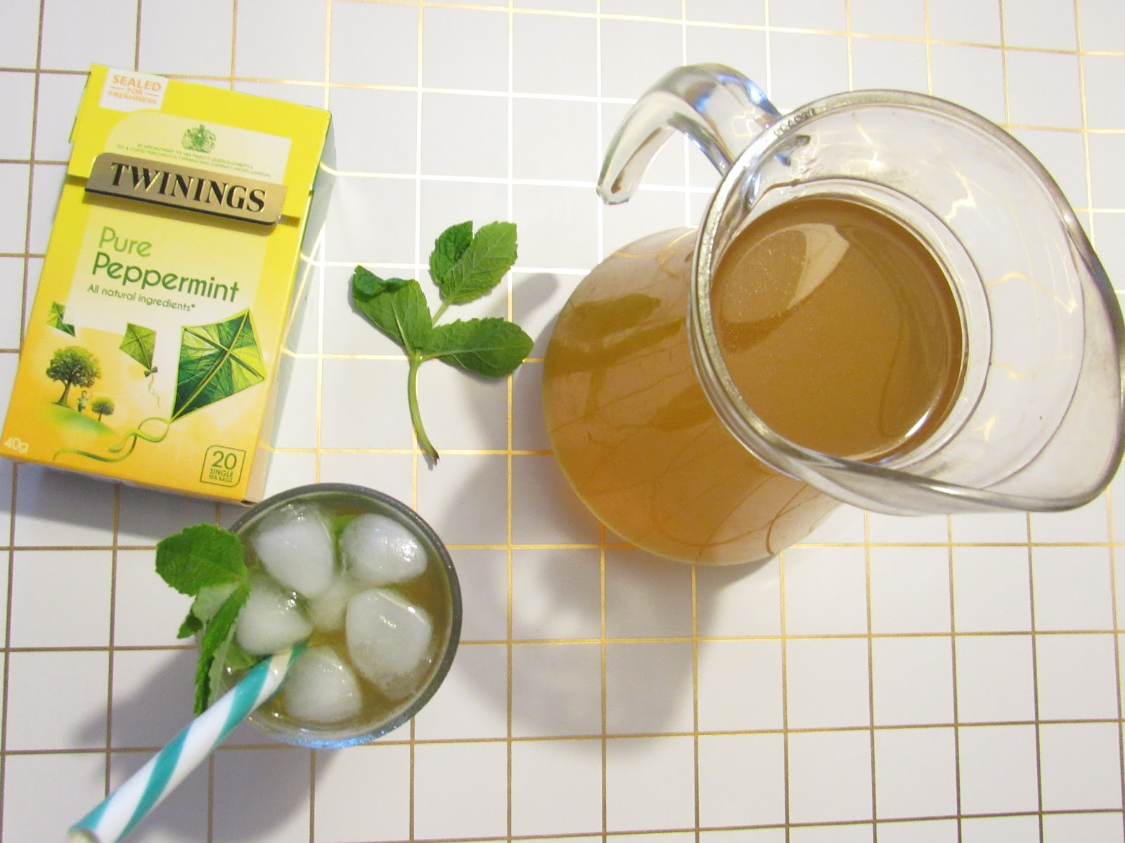 Blooming Fiction, lifestyle blog, Twinings Mint Iced Tea Recipe & Voucher Code