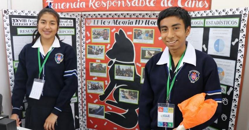 Dos proyectos escolares de la jurisdicción de la UGEL 02 quedaron finalistas en la Feria Escolar Nacional de Ciencia y Tecnología «Eureka»