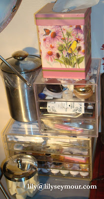 Makeup Organization Storage Featuring Clear Cube