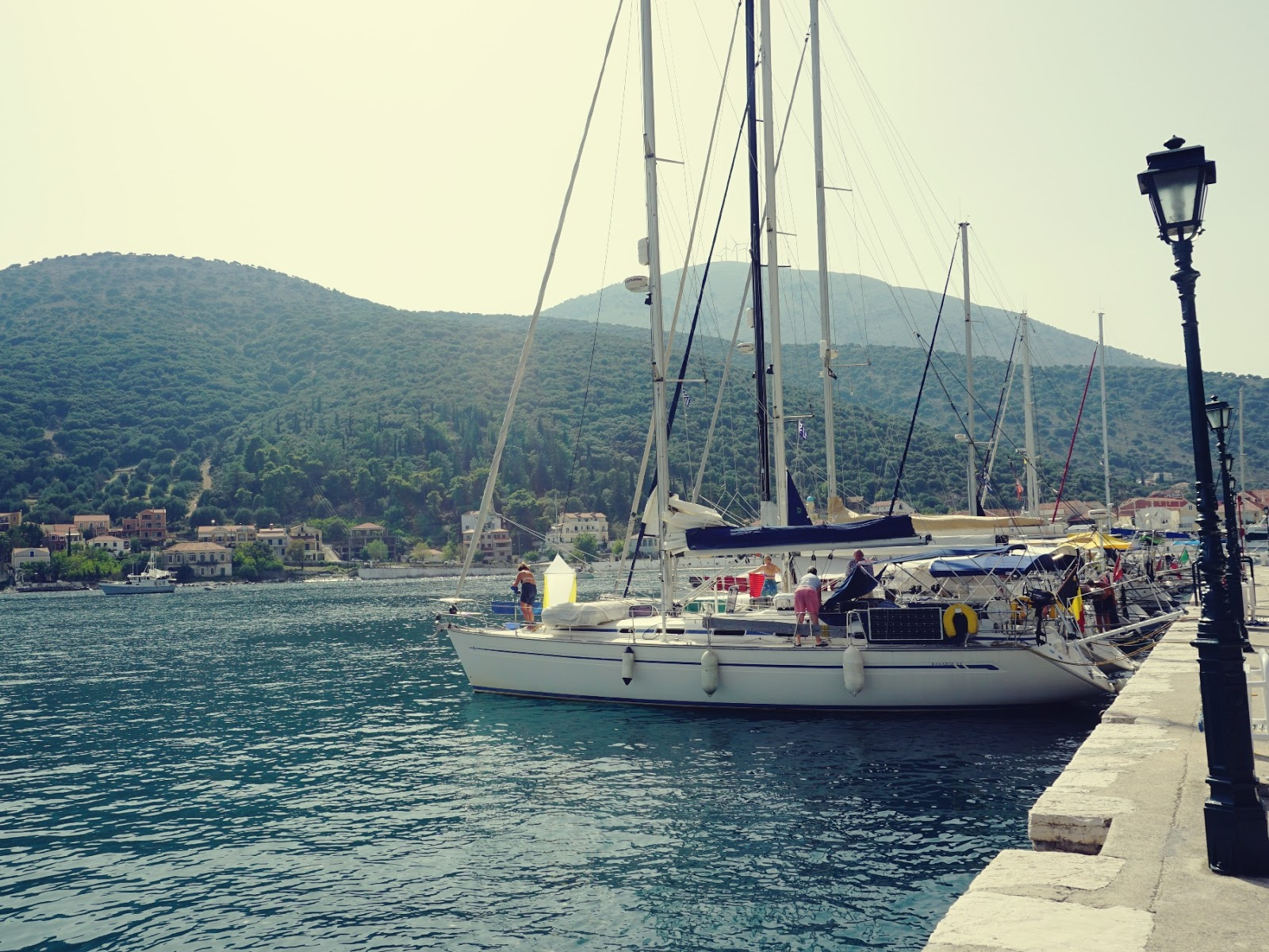 Port, Agia Efimia, wakacje, statki, jachty, woda, morze, lato, Grecja, Kefalonia, wyspy jońskie, podróże