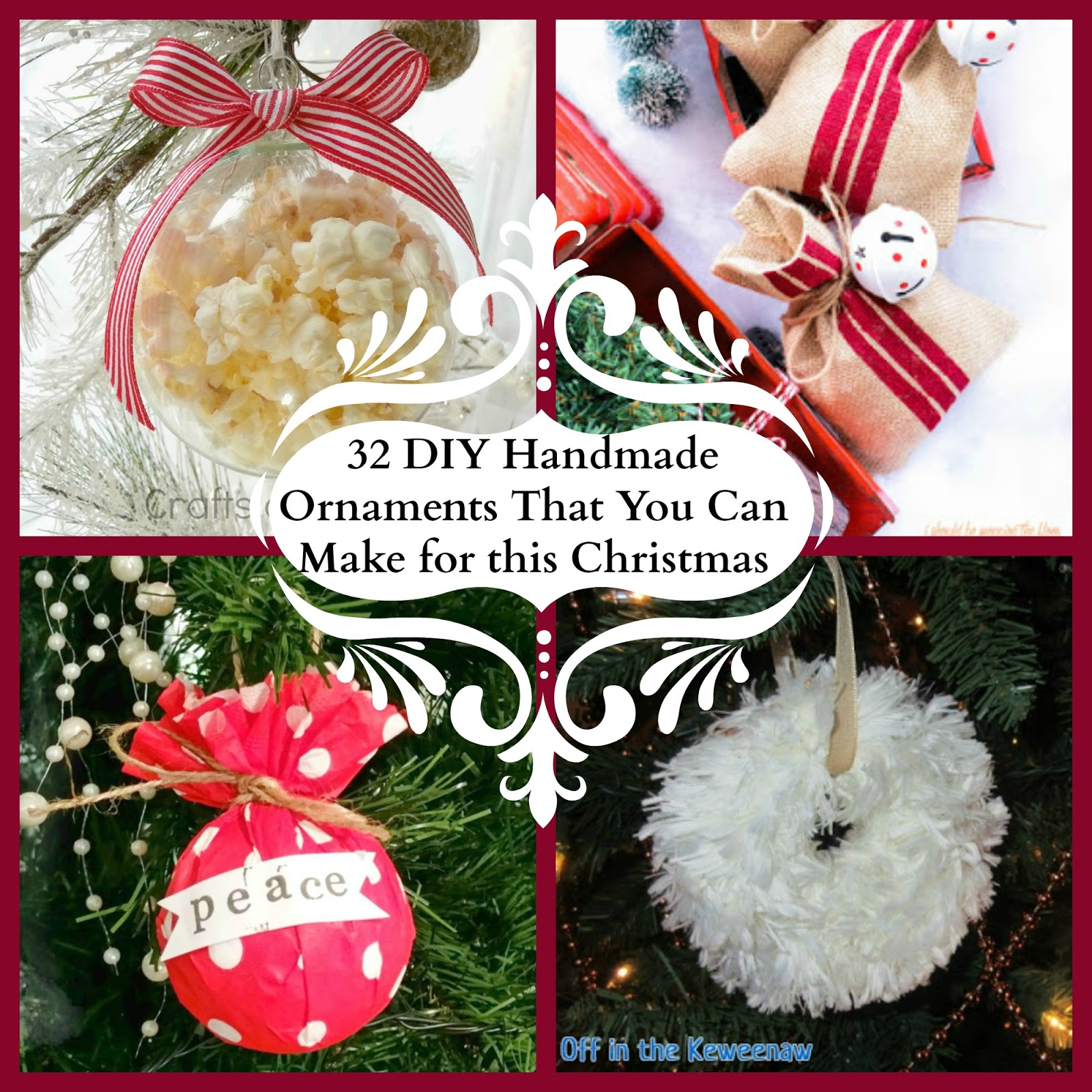 Shoestring elegance 32 diy handmade ornaments that you can make for why not take some time together to make some memories following are all handmade ornaments that are fun and relatively easy to make solutioingenieria Images