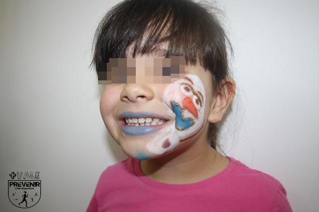 maquillaje olaf frozen niños fantasia