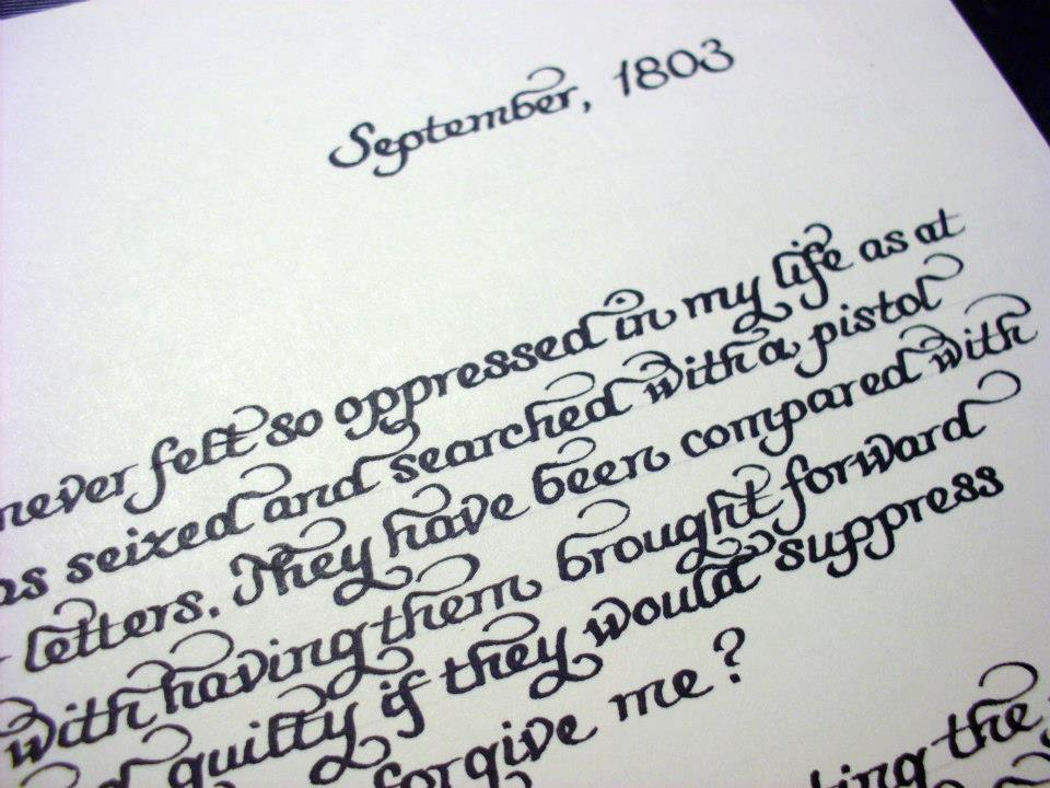 From the Ash Tree Meadow: Historical Love Letter in Calligraphy