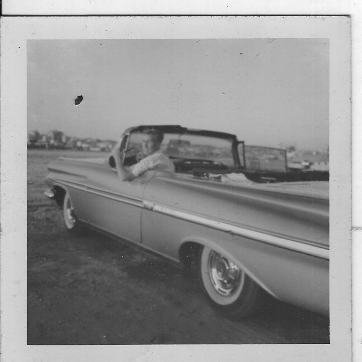 vintage Chevy Convertible photograph
