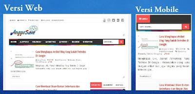 Cara Supaya Tampilan Blog di Mobile Sama Seperti di Desktop/Web