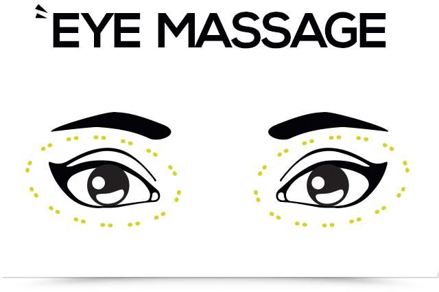 titik pijat mata kedua perhatikan lingkaran mata