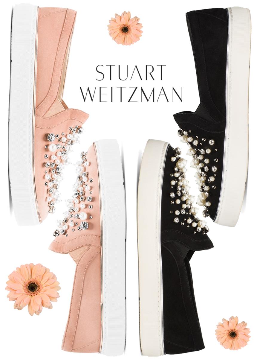 Stuart Weitzman Decor Suede Embellished Sneaker