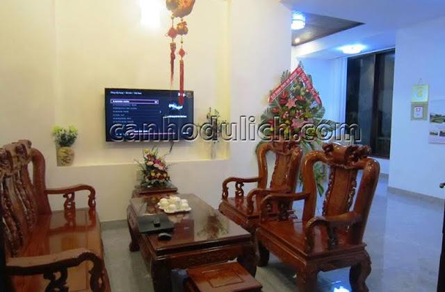 Phòng khách có TV 32 inch