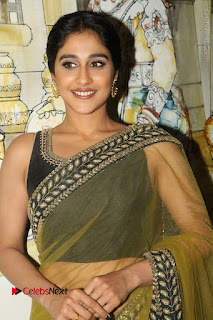 Actress Regina Stills in Green Saree at Vivaha Bhojanambu Restaurant Launch  0105.JPG