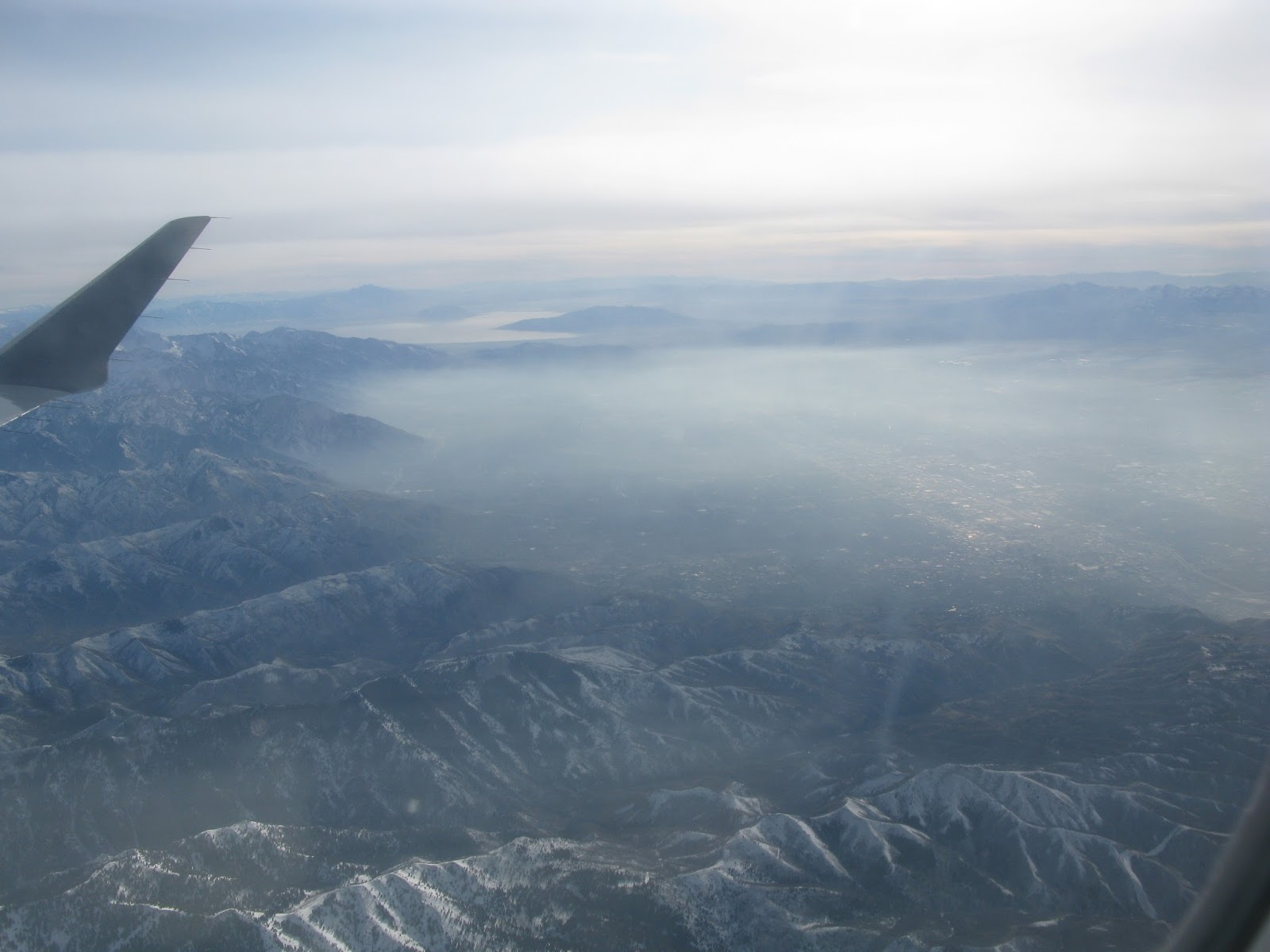 Leaving behind Salt Lake City and the Inversion as I head East to Denver on Delta