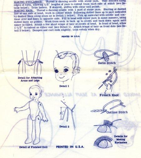 Vintage Cloth Doll Patterns Design 7339 32 Quot Baseball