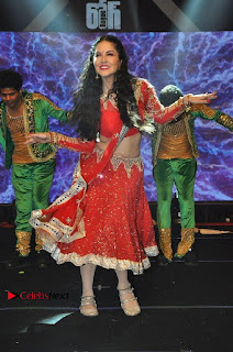 Bollywood Actress Model Sunny Leone Dance Performance in Red Half Saree at Rogue Audio Launch 13 March 2017  0092.jpg