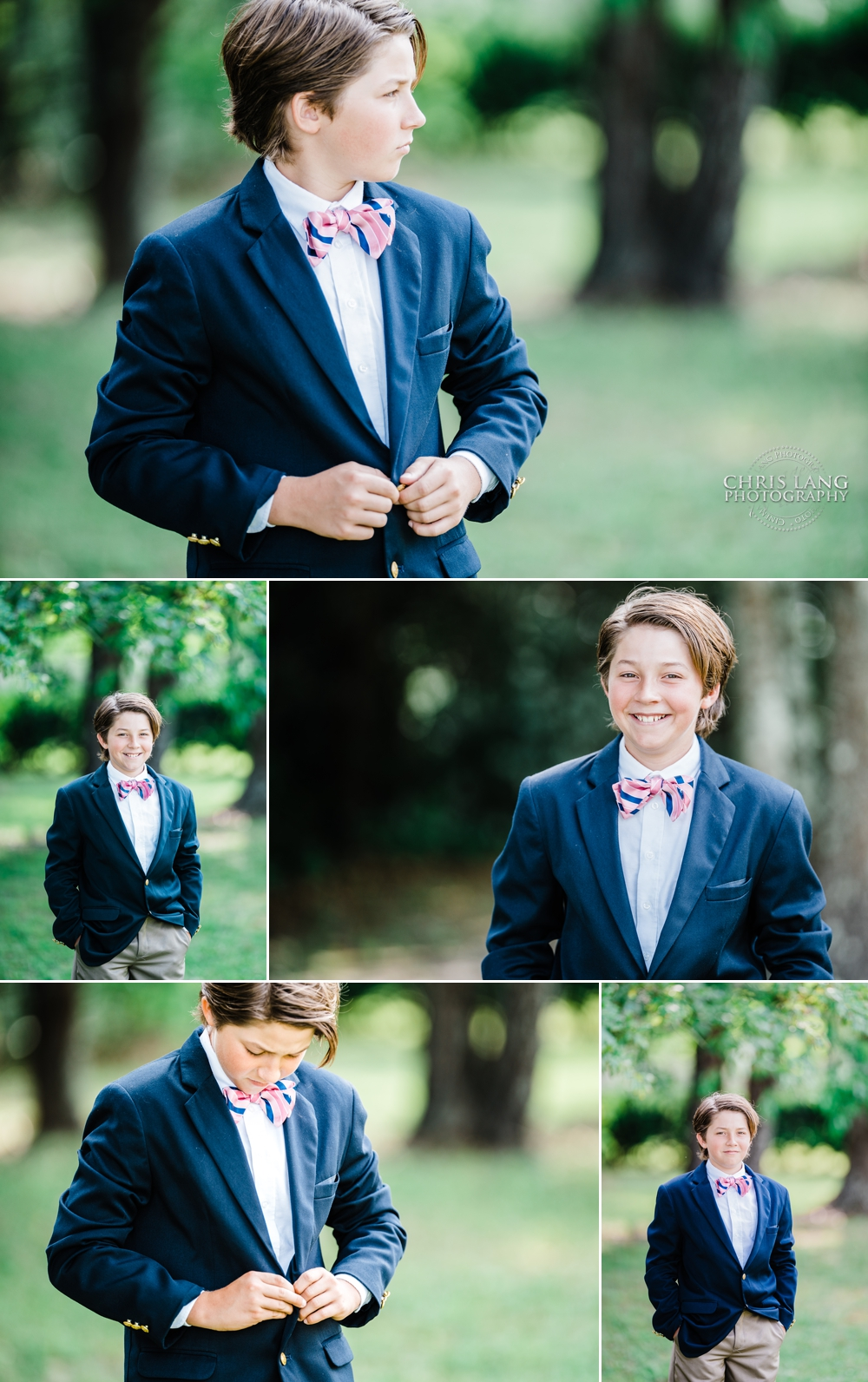 picture of young boy in blue suit wearing a bowtie - kids fashion - kid models - kids GQ - Wilmington NC portrait photography