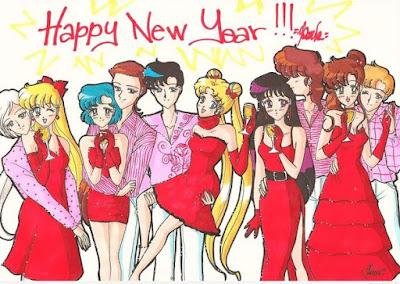 Gambar Selamat Tahun Baru 2017 Kartun Lucu Happy New Year Wallpaper HD Sailor Moon