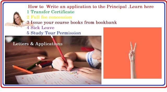 how to write an application letter to principal of college