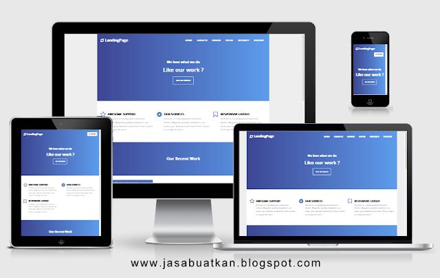 Contoh Landing Page Blogspot Terbaik