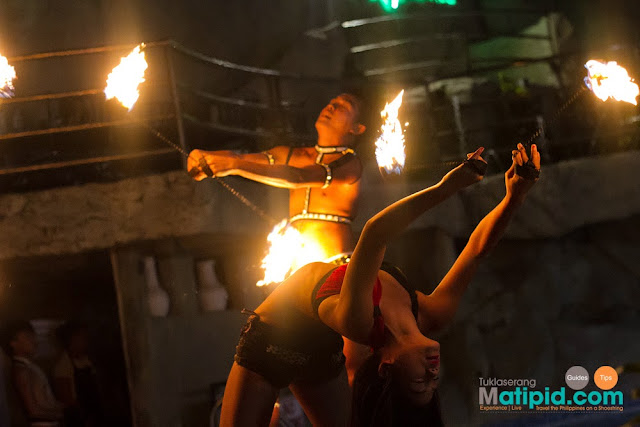 Fire dancers showing off their skills