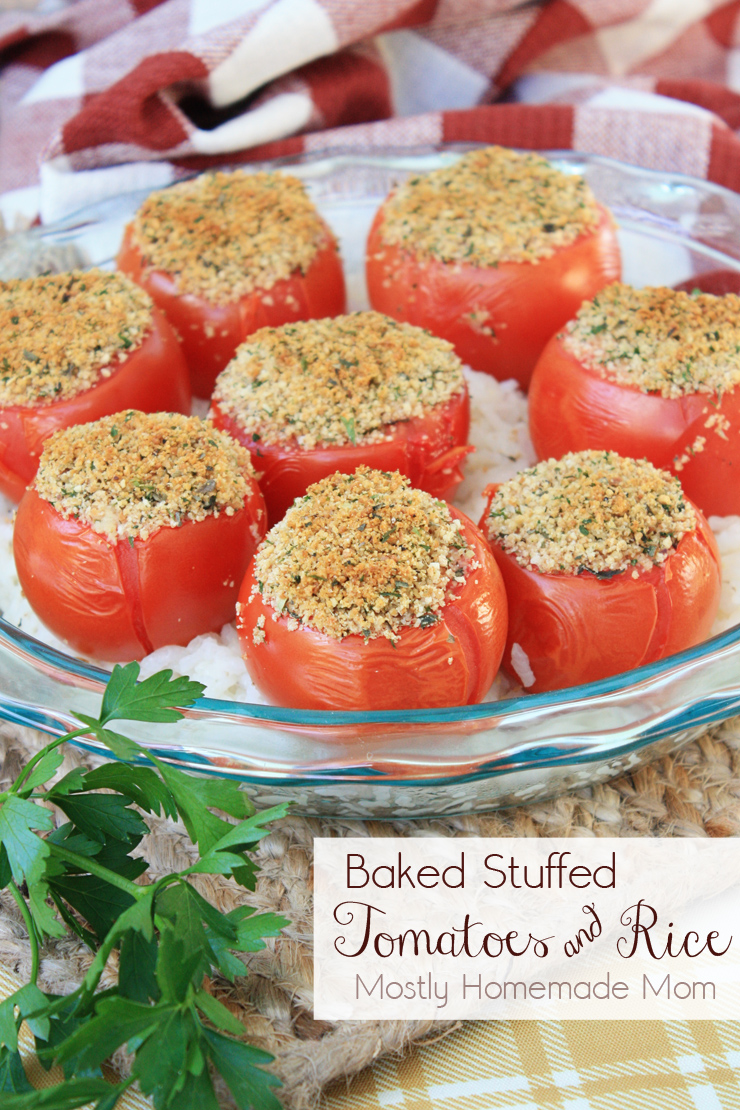 Baked Stuffed Tomatoes and Rice