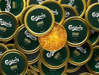 Caviar de cerveza Carlsberg