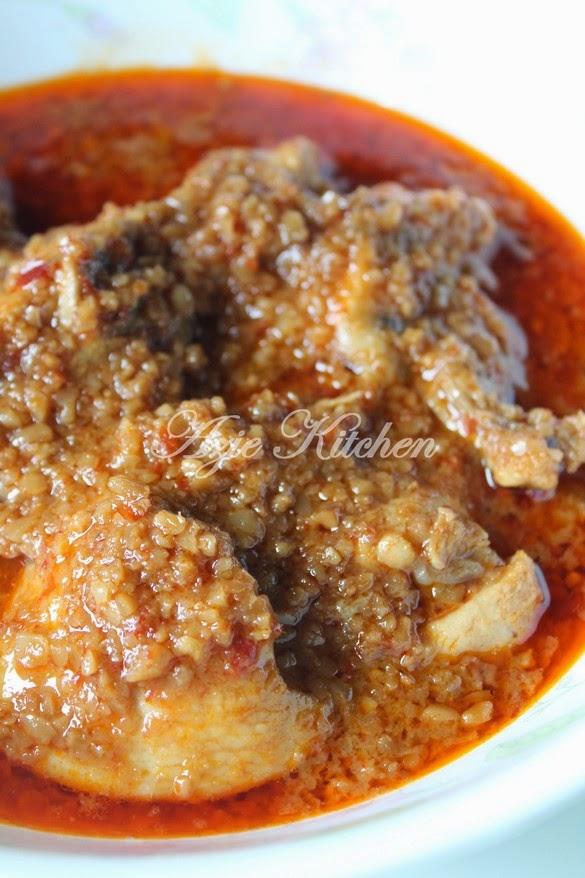 Kuah Kacang Dengan Ayam Istimewa Azie Kitchen