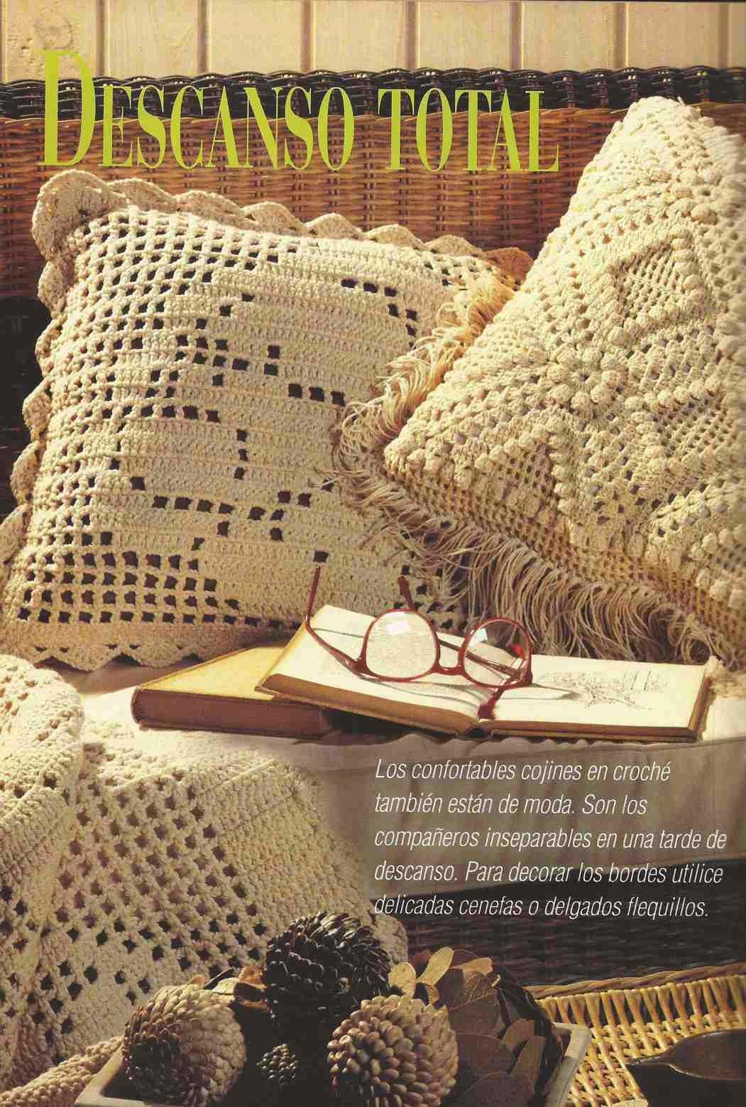 Cojines a Crochet o Ganchillo