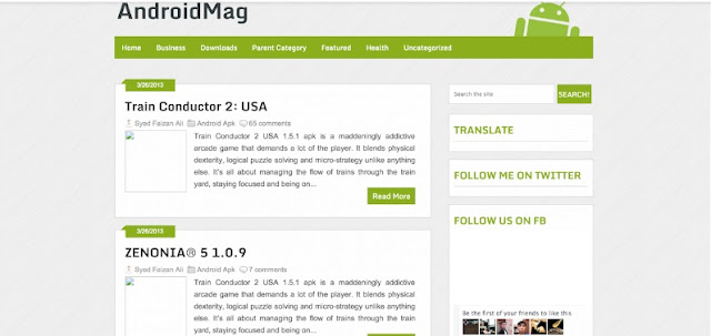 AndroidMag Blogger Template