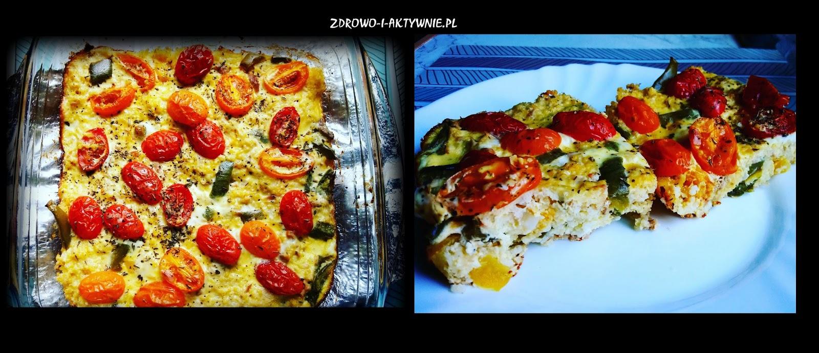 Jaglana zapiekanka z tuńczykiem i warzywami