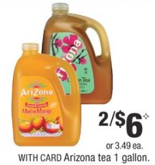 Arizona tea  cvs deal