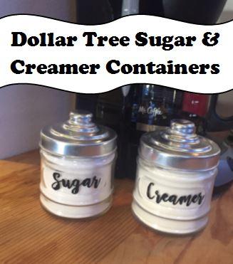 Sugar Creamer Containers