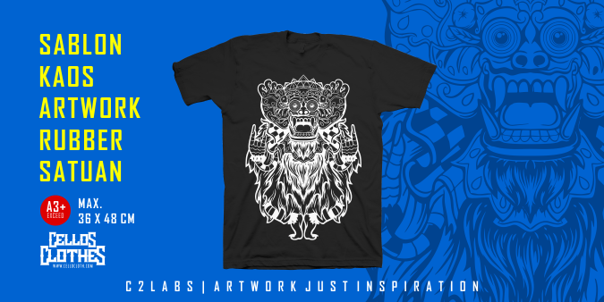 Sablon Kaos Artwork A3 Exceed Rubber Satuan