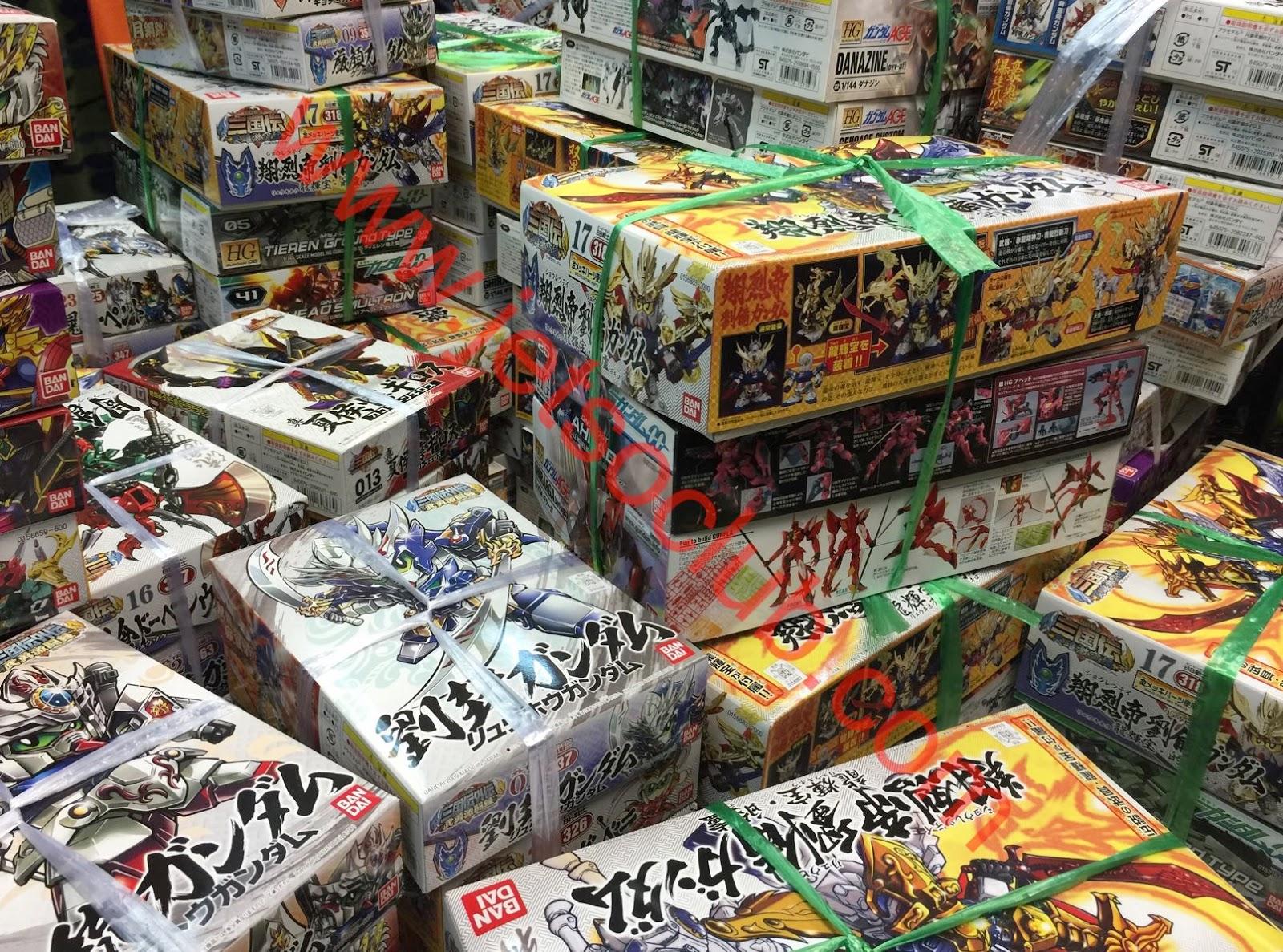 玩具模型倉:玩具模型 3盒$100 ( Jetso Club 著數俱樂部 )