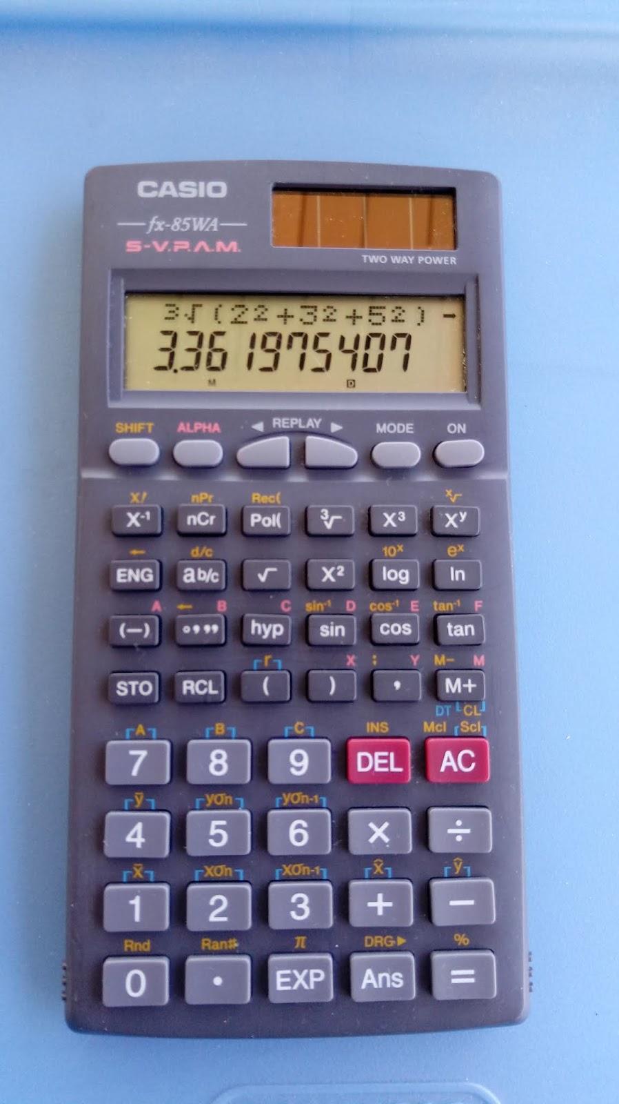 Casio fx 300es plus how to display as decimal