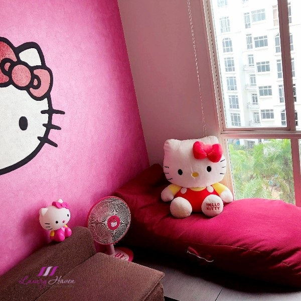 masons home curva bean bag lounger hello kitty