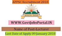 Arunachal Pradesh Public Service Commission Recruitment 2018 – Lecturer